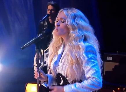 Carrie Underwood with NEEDTOBREATHE I 2021 CMT Music Awards
